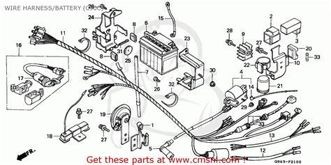honda c90 cub 1982 csw wire harness battery c90c schematic partsfiche
