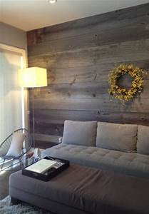 barn board feature walls farmhouse living room With accent wall boards