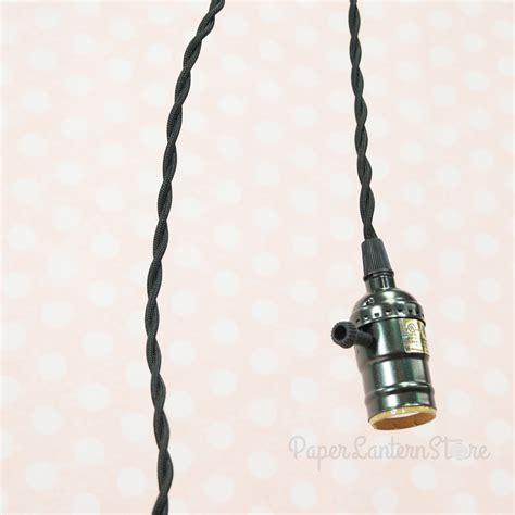 single pearl black socket pendant light l cord kit w