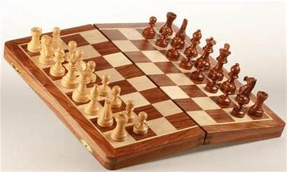 Chess Rosewood Magnetic Folding Golden Case Maple