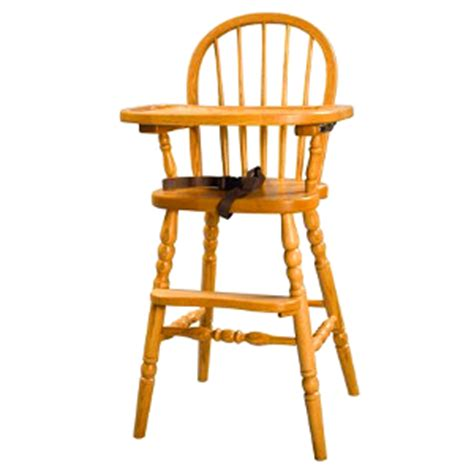 amish bow back baby high chair with turned legs usa made