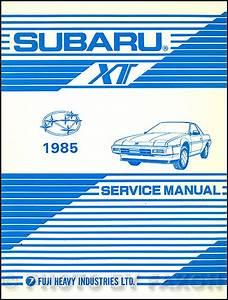 1985 Subaru Xt Wiring Diagram And Electrical