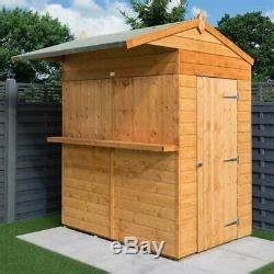 rowlinson garden bar shed outdoor wooden drinks hatch