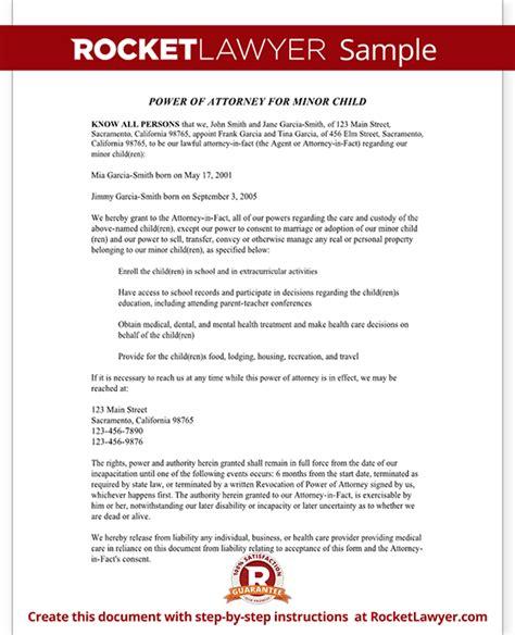sample letter signing  parental rights sample