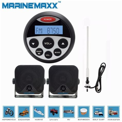 Boat Fm Radio Antenna by Car Boat Radio Antenna Waterproof Rubber Duck Dipole