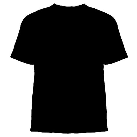 Black Tshirt Template Black T Shirt Template Front And Back Psd Clipart Best