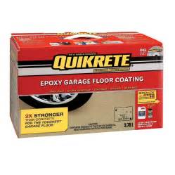 quikrete 3 785l interior epoxy garage floor coating kit