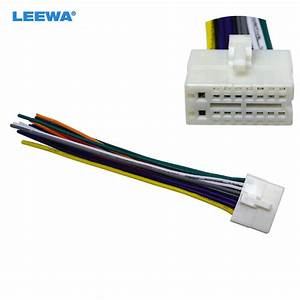 Leewa Car Radio Stereo 16pin Wire Harness Male Plug Cable
