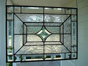 Beveled Star & Clear Textures Stained Glass by TheGlassShire