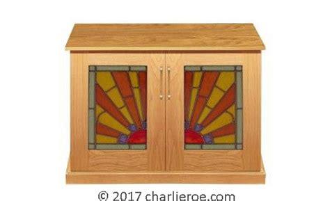 cabinet rising sun vintage new deco 2 4 door oak sideboard with rising sun 5070
