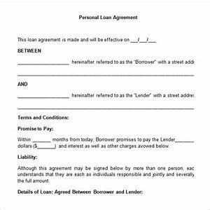 loan contract template 20 examples in word pdf free With personal loan document sample
