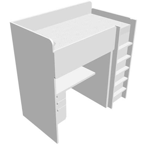 lit superposé bureau ikea cad and bim object stuva lit mezzanine 1place avec