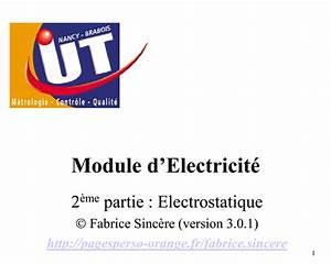 Cours D U0026 39 Electrostatique