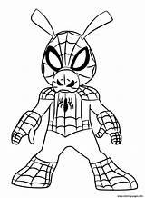 Spider Ham Coloring Verse Coloriage Colouring Spiderman Dessin Spder Vers Coloringnori Template Sketch Days sketch template
