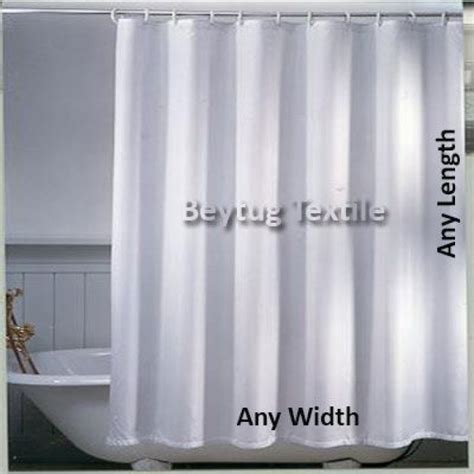 Plain White Shower Curtain - made to measure fabric shower curtain in plain white