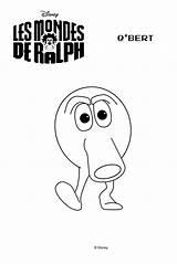 Ralph Coloring Wreck Qbert Bert Printable Template Zip Disney Sketch Credit Larger Patriot Mondes sketch template