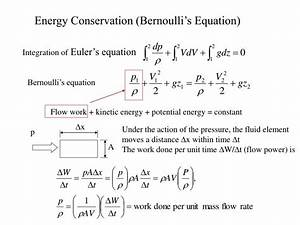 PPT - Energy Conservation (Bernoulli's Equation ...