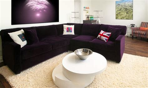 Living Room With Purple Sofa by How To Match A Purple Sofa To Your Living Room D 233 Cor