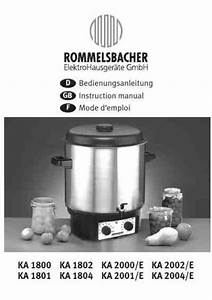 Rommelsbacher Ka 1801 Others Download Manual For Free Now