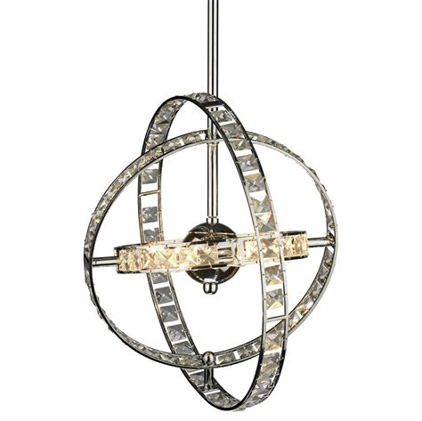 dar ete0650 eternity 6 light pendant polished chrome
