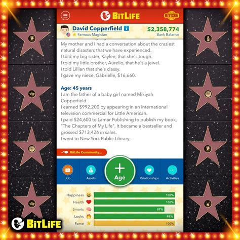 famous bitlife career become celebrity figured every paths gain fame haven yet seen few still comments simulator superstar bitlifeapp