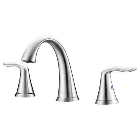 white kitchen sink faucets anzzi symphony series 8 in widespread 2 handle high arc 1399