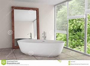 salle de bains moderne avec le grand miroir photos stock With miroir salle de bain moderne