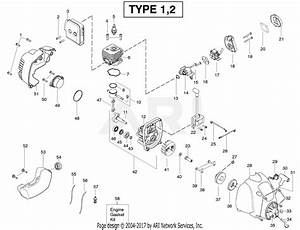 Poulan Xt260 Gas Trimmer Type 1 Parts Diagram For Engine