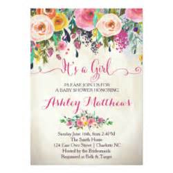 jar bridal shower invitations floral baby shower invitations announcements zazzle