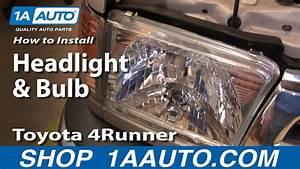 How To Replace Headlight 99-02 Toyota 4runner