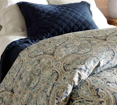 mackenna paisley duvet cover fullqueen blue