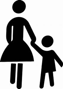 Mother And Child Holding Hands Silhouette Icons PNG - Free ...
