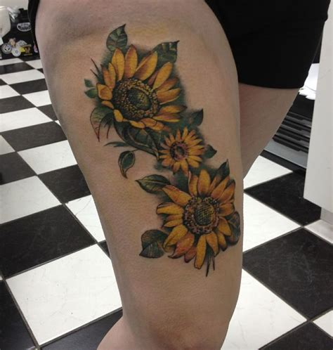 sunflower tattoos designs mens craze