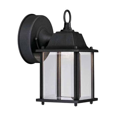hton bay black outdoor led wall lantern hb7002 05 the