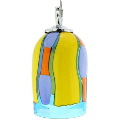 murano glass lighting murano glass pendant light blue