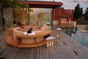 Spa Bois Exterieur : terrasse bois pour spa gonflable ~ Premium-room.com Idées de Décoration