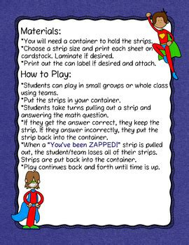 Dividing Fractions And Whole Numbers Don't Get Zapped Math Game By Misty Miller
