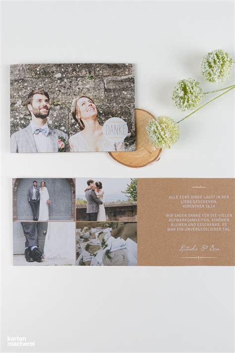 dankeskarte rustic love kraftpapier   hochzeit