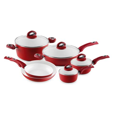 cookware ceramic bialetti aeternum nonstick piece pans aluminum cooking 10pcs sets kitchen forged induction brands beyond bath bed cooktop stove