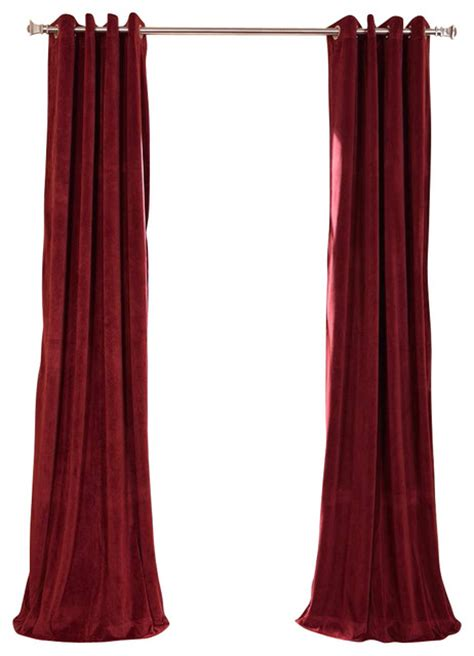 Burgundy Blackout Curtains Uk by Signature Burgundy Grommet Blackout Velvet Curtain