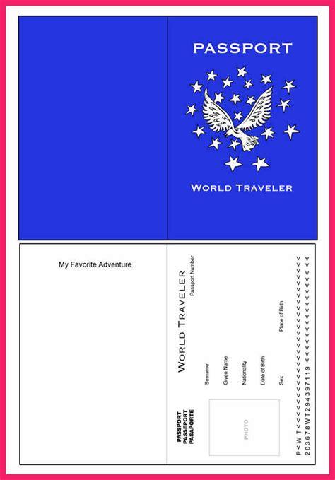 passport template  kids bio letter format