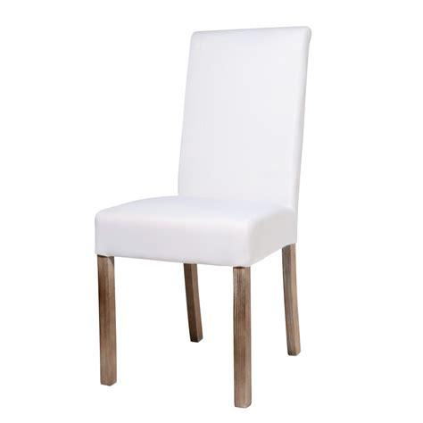 maisons du monde chaises chaise à housser en tissu et bois blanche margaux
