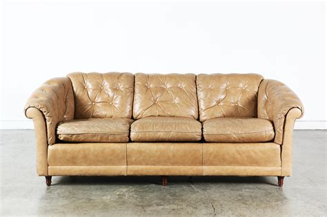 Leather Tufted Loveseat by Vintage Leather Tufted Sofa Vintage Supply Store