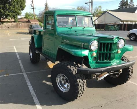 willys jeep pickup truck   lifted  runs    awesome  sale