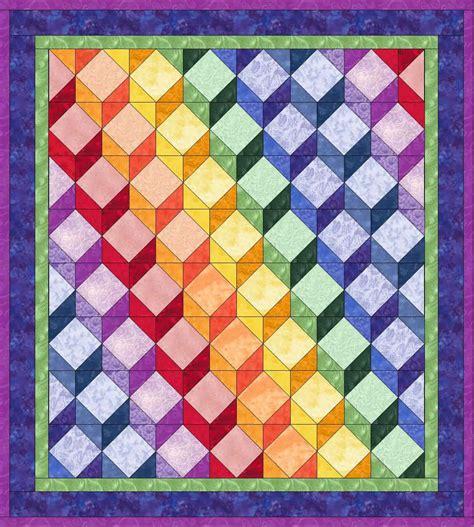 tumbling block quilt pattern template pieced blocks tumbling blocks
