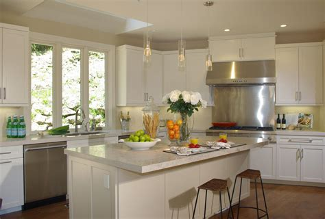 white kitchen ideas with island white wooden cabinet and kitchen island with plus brown White Kitchen Ideas With Island