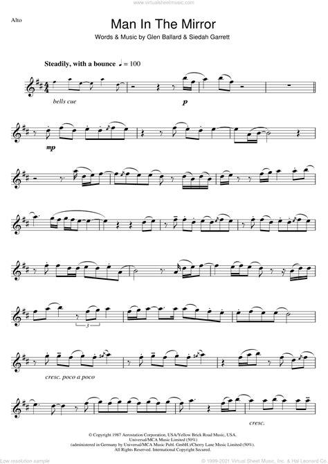 jackson man   mirror sheet   alto saxophone
