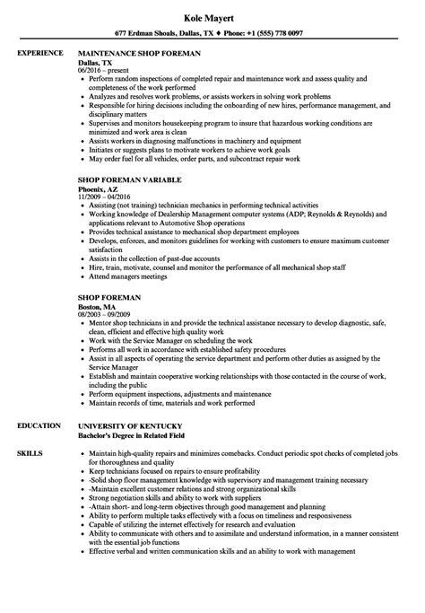 Supervisor Resume Exles by Union Carpenter Foreman Resume Collections Photos Carpenter