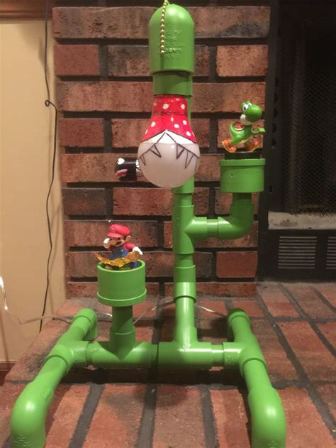 Pvc Super Mario Lamp Diy Pinterest Pipes Room And