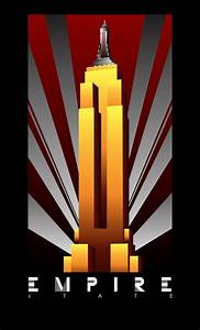 "Empire State Building Art Deco Poster | ""ART DECO POSTERS ..."